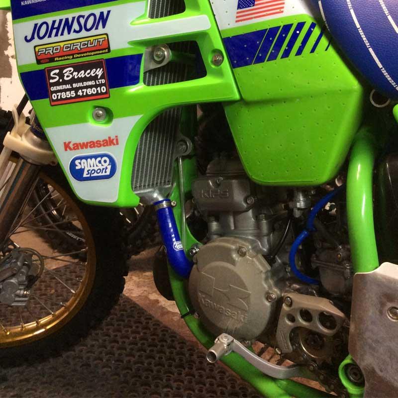 Kawasaki KX 125 1988 1989 2 Piece Samco Sport Silicone Radiator Coolant Hose Kit