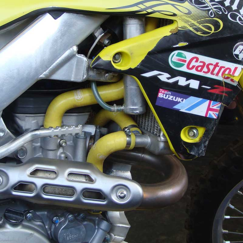 Details about  /For SUZUKI RMZ250 2007-2008 Silicone Radiator Coolant Hose Kits 3ply Blue