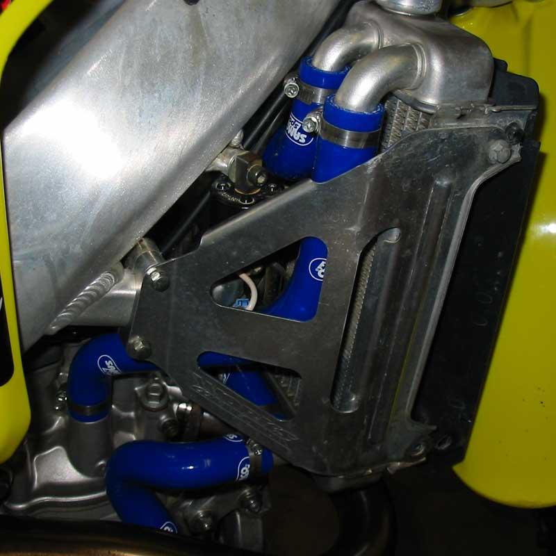 Suzuki RMZ 450 2004-2005 4 Piece Silicone Radiator Coolant Hose Kit Blue Kit